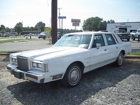 1988 Lincoln Town Car Start Up Engine And In Depth Tour Youtube
