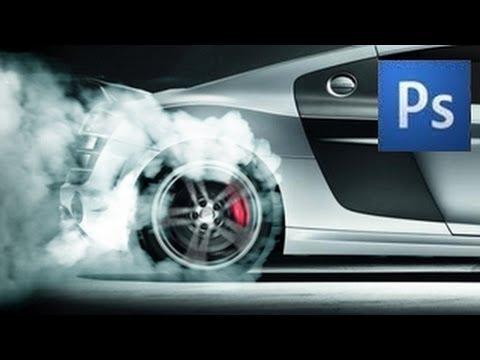 photoshop tutorial tire smoke youtube