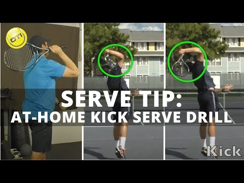 Tennis Serve Tip: Gregg's Favorite At-Home Kick Serve Drill