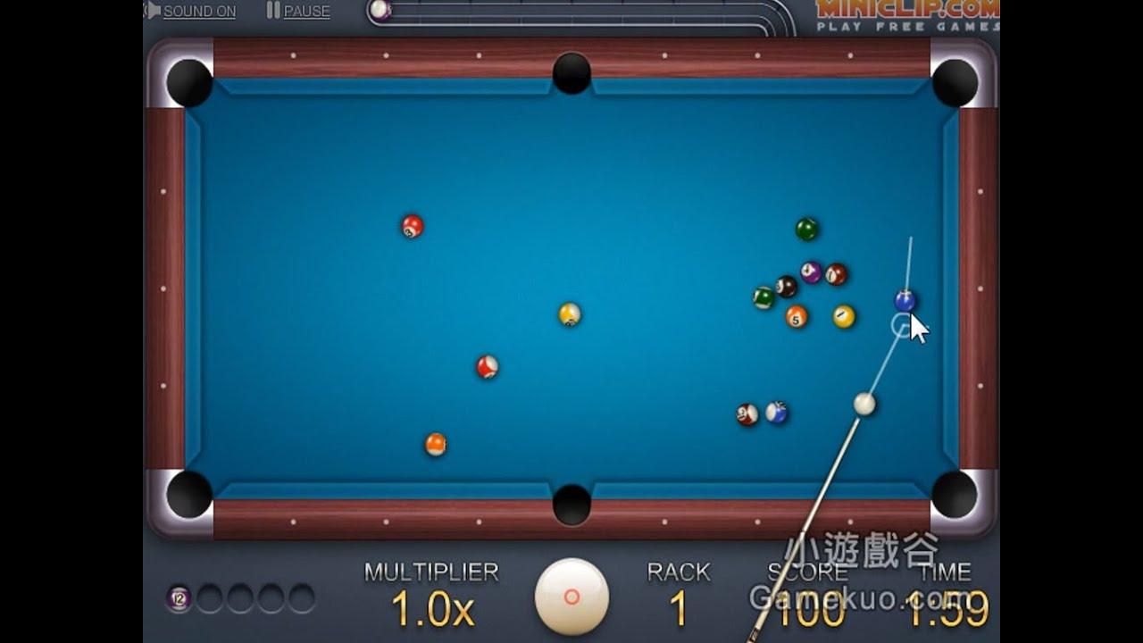 好玩的撞球遊戲(8 Ball Quick Fire Pool) - YouTube