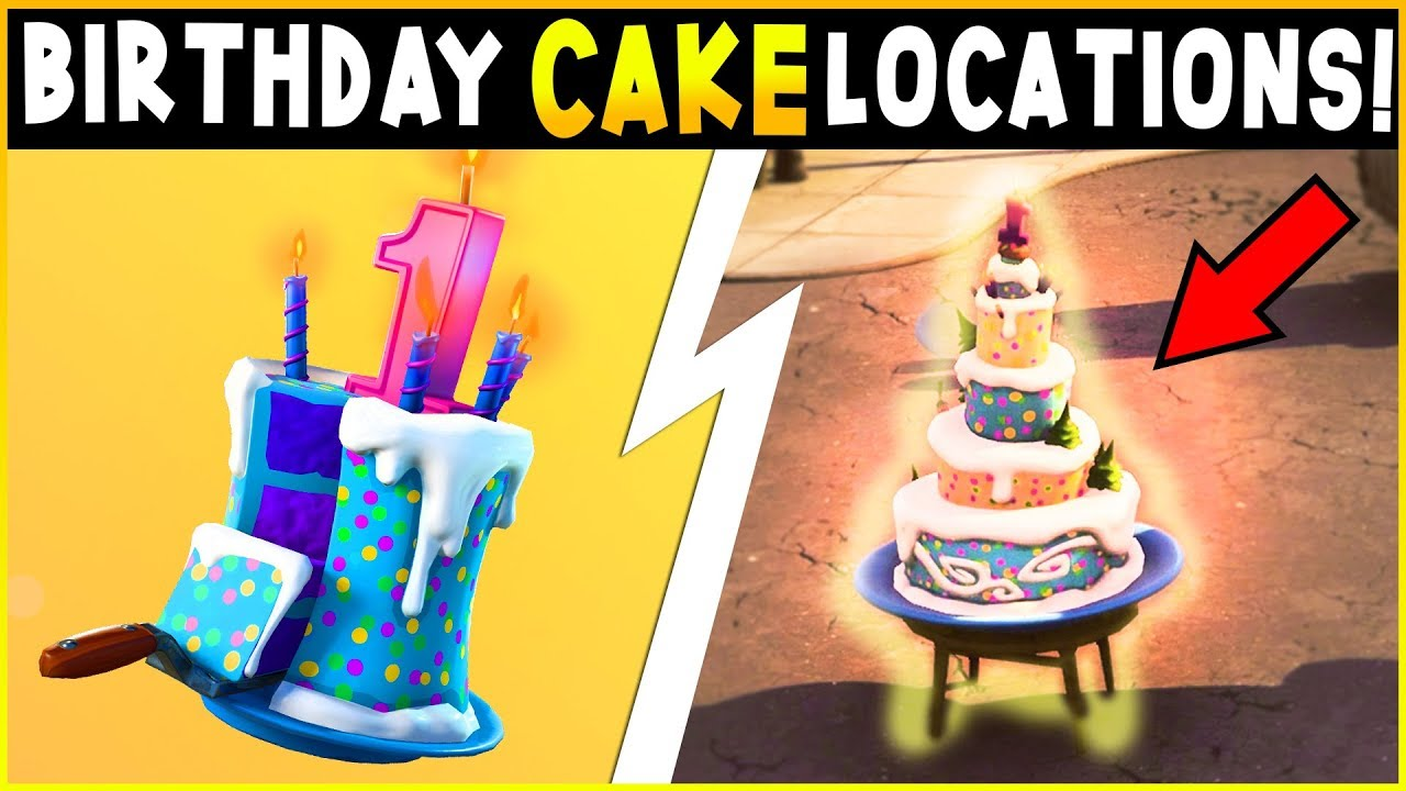 Fortnite - BIRTHDAY CAKE LOCATIONS & CHALLENGES GUIDE ...