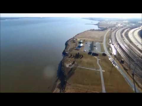 DELAWARE RIVER DRONE FLIGHT - FOX POINT STATE PARK  2/17/18