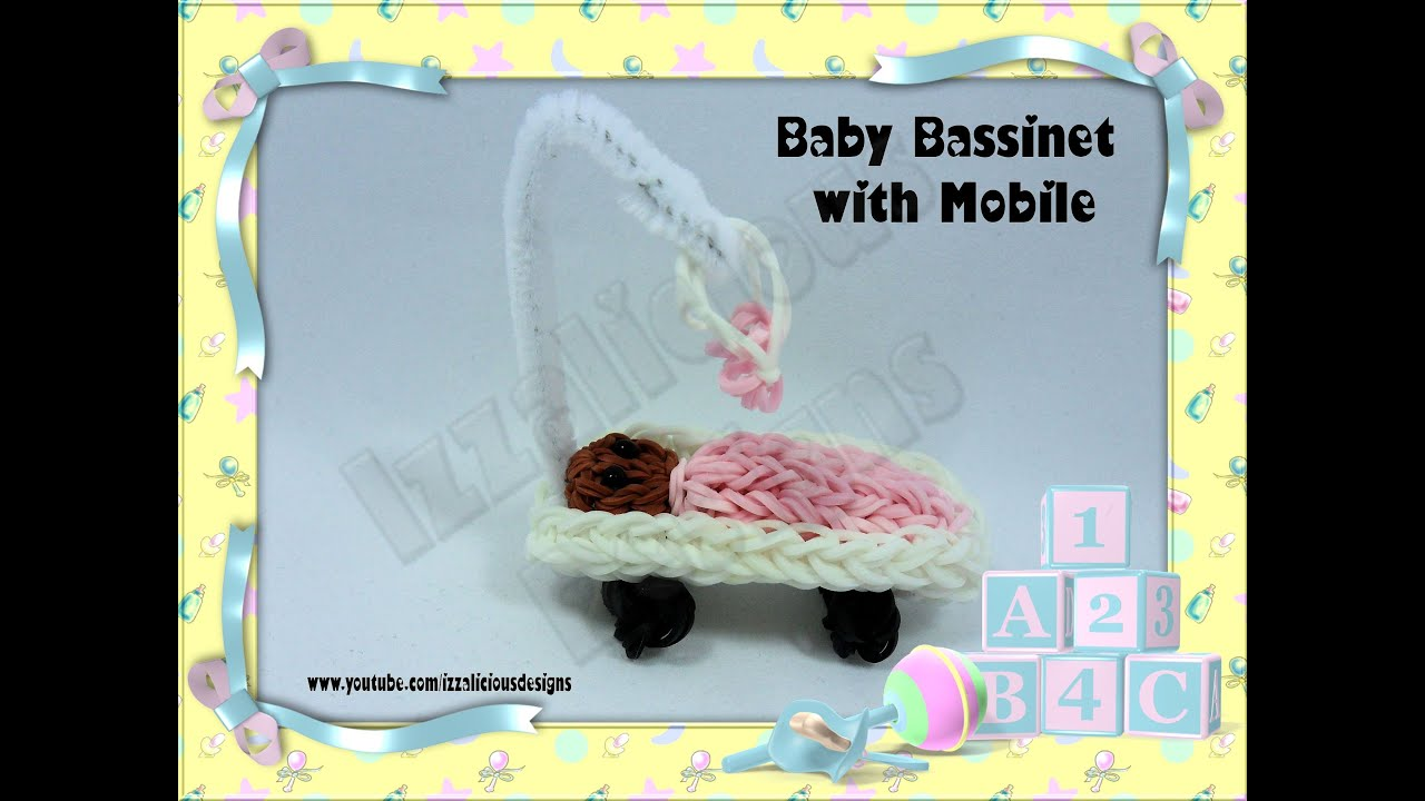 Baby bed youtube - Rainbow Loom Baby Bassinet Crib Cot With Mobile Action Figure Charm Gomitas Youtube