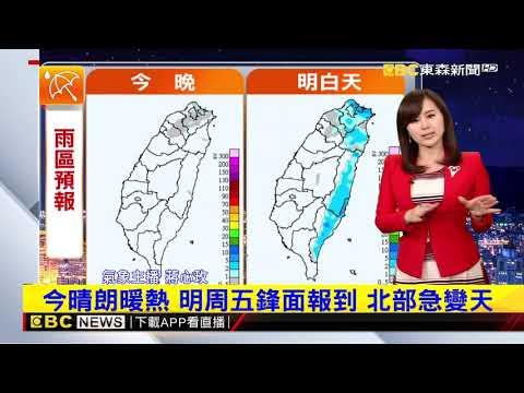 氣象時間 1080321 晚安氣象 東森新聞