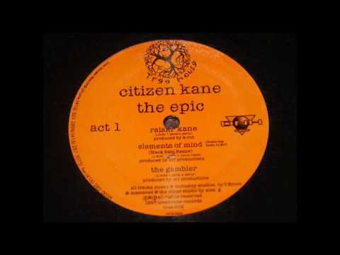 Citizen Kane - Elements Of Mind (Black Rain Remix) poster