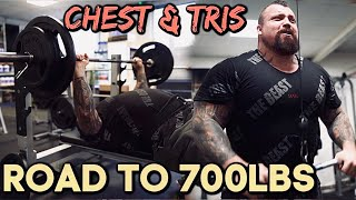 ROAD TO 700LBS - Worlds Strongest Man Trains Chest