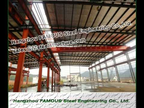 Wide Span Industrial Steel Buildings Light Steel Structure Building