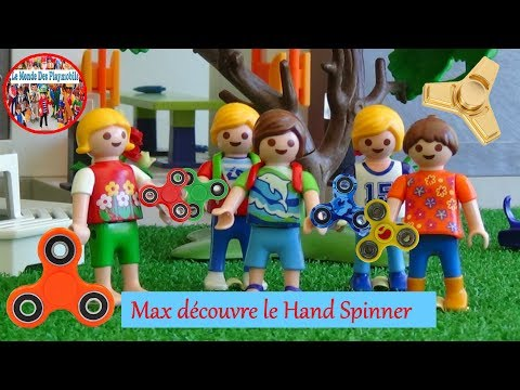 Playmobil - Max découvre le Hand Spinner à l'école [SOUS-TITRÉE]   Hand Spinner at school
