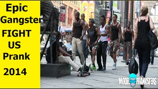 ✔ Epic Gangster Fight Us Prank in The Hood - Best Funny Pranks 2014