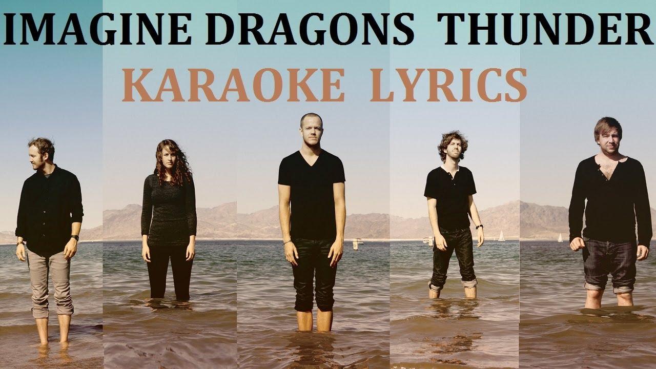 imagine dragons thunder karaoke cover lyrics youtube