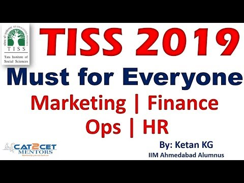 TISS 2019 - Must for Everyone - Marketing | Finance | Ops | HR