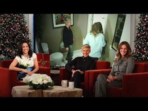 Ellen and Julia Roberts Scare Julia LouisDreyfus