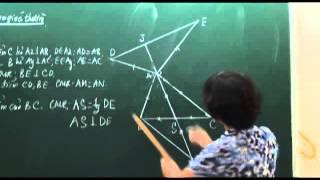 Toán 7. Các trường hợp bằng nhau của tam giác (Phần 3)