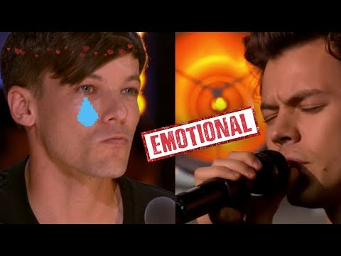 Louis watching Harry performing Sweet Creature at The X Factor (a manip)