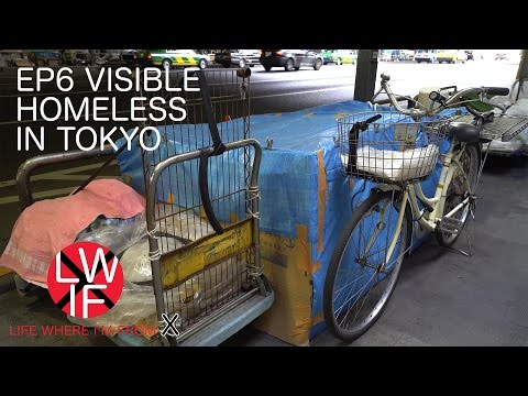 Visible Homeless in Tokyo, Japan