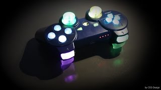 "Custom Ps3 Controller ""blue rainbow"" by CKS-Design [FULL HD]"