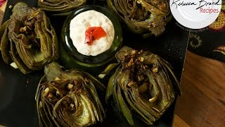 Pan Roasted Artichokes Easy Recipe