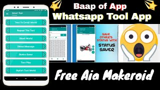 😱😮😱 Free Smart Tool–All In One whatsapp Tool App Free Aia Makeroid