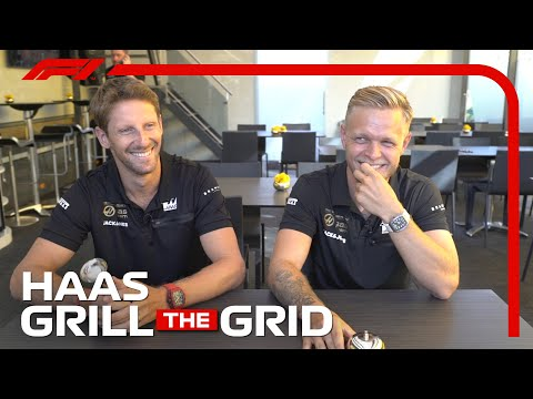 Haas' Romain Grosjean and Kevin Magnussen!   Grill The Grid 2019