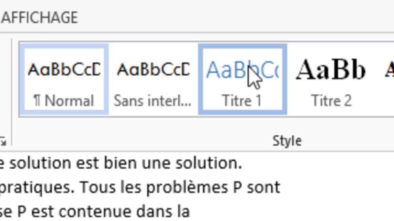 Word Insertion Table Des Matieres Youtube