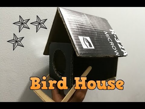 how to make a birdhouse out of cardboard