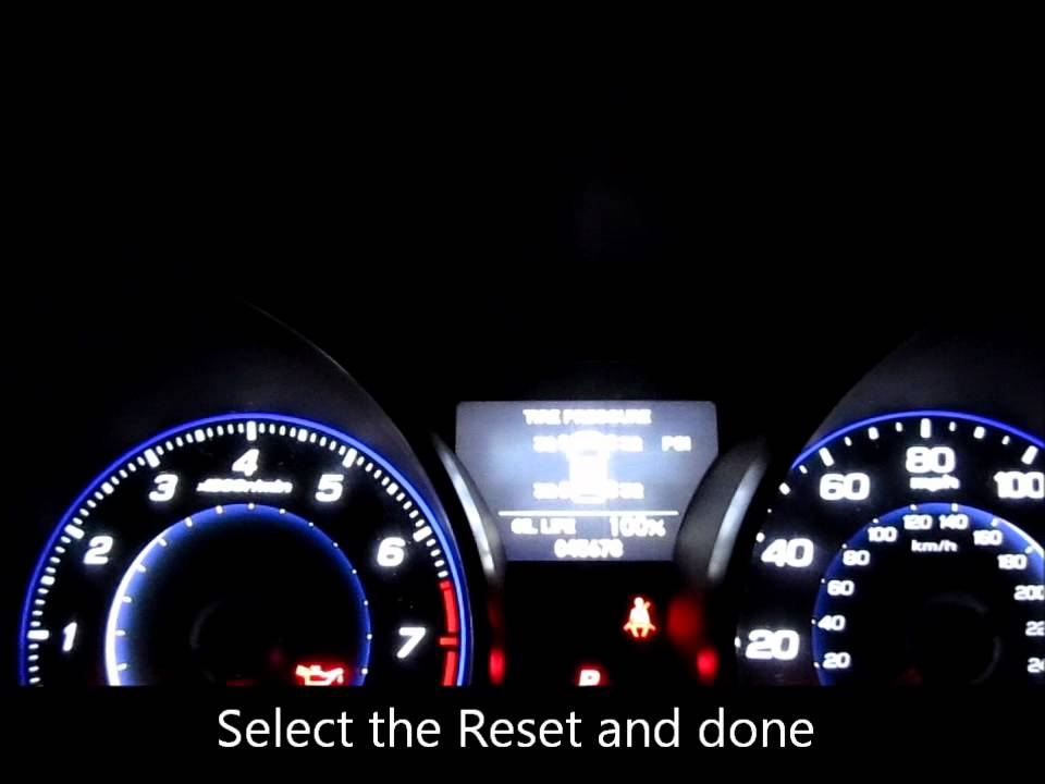 reset the maintenance oil light on an Acura - YouTube