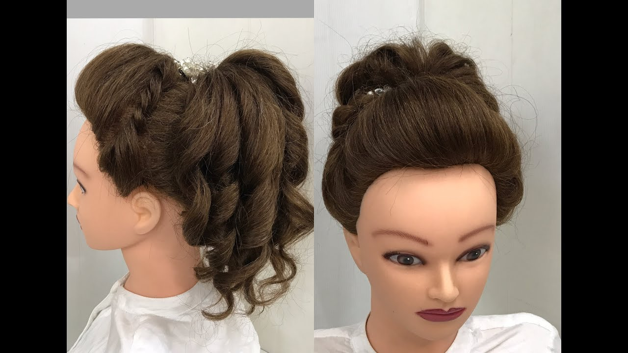 hair style for function 3 beautiful hairstyles with puff easy wedding hairstyles 6900