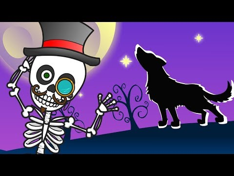 THE SKELETONS DANCE CHUMBALA CACHUMBALA 💀🎃 Halloween Kids Song | Cartoon Clips For Children