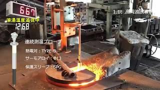 誘導炉用の連続測温