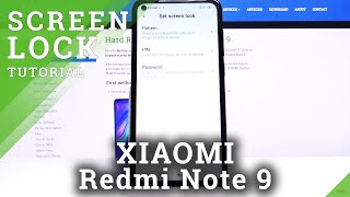 How to Set Up Lock Method in XIAOMI Redmi Note 9 – Find Lock Screen Options