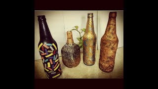 DIY - SIMPLE AND EASY BOTTLE DECORATION IDEAS - ROOM DECOR | BOTTLE RECYCLING CRAFT