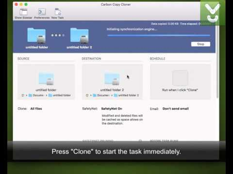Carbon Copy Cloner - Back Up And Copy Files On Mac - Download Video Previews
