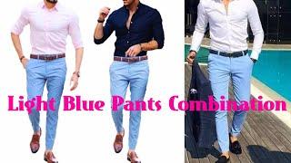 Blue matching pants shirt light Men's Guide