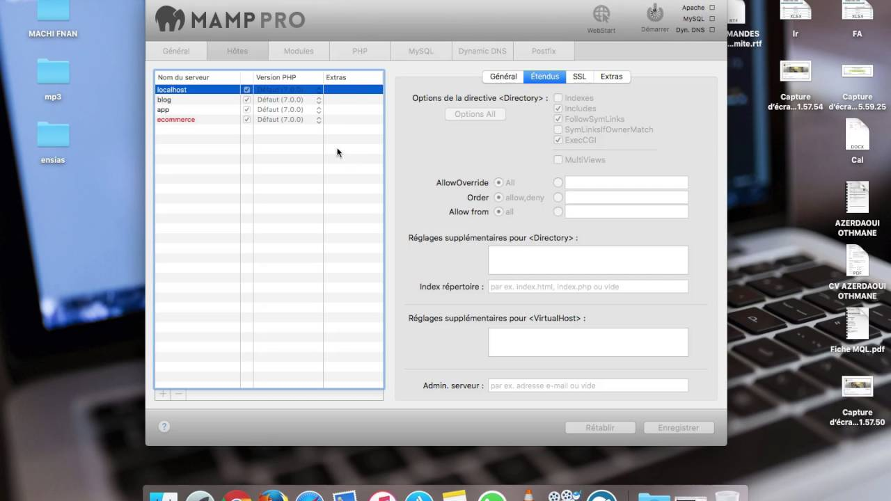 How to fix error 403 ( Forbidden ) MAMP PRO