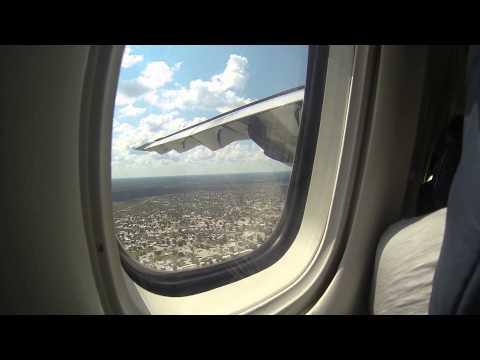 Air Botswana flight into Maun from Johannesburg