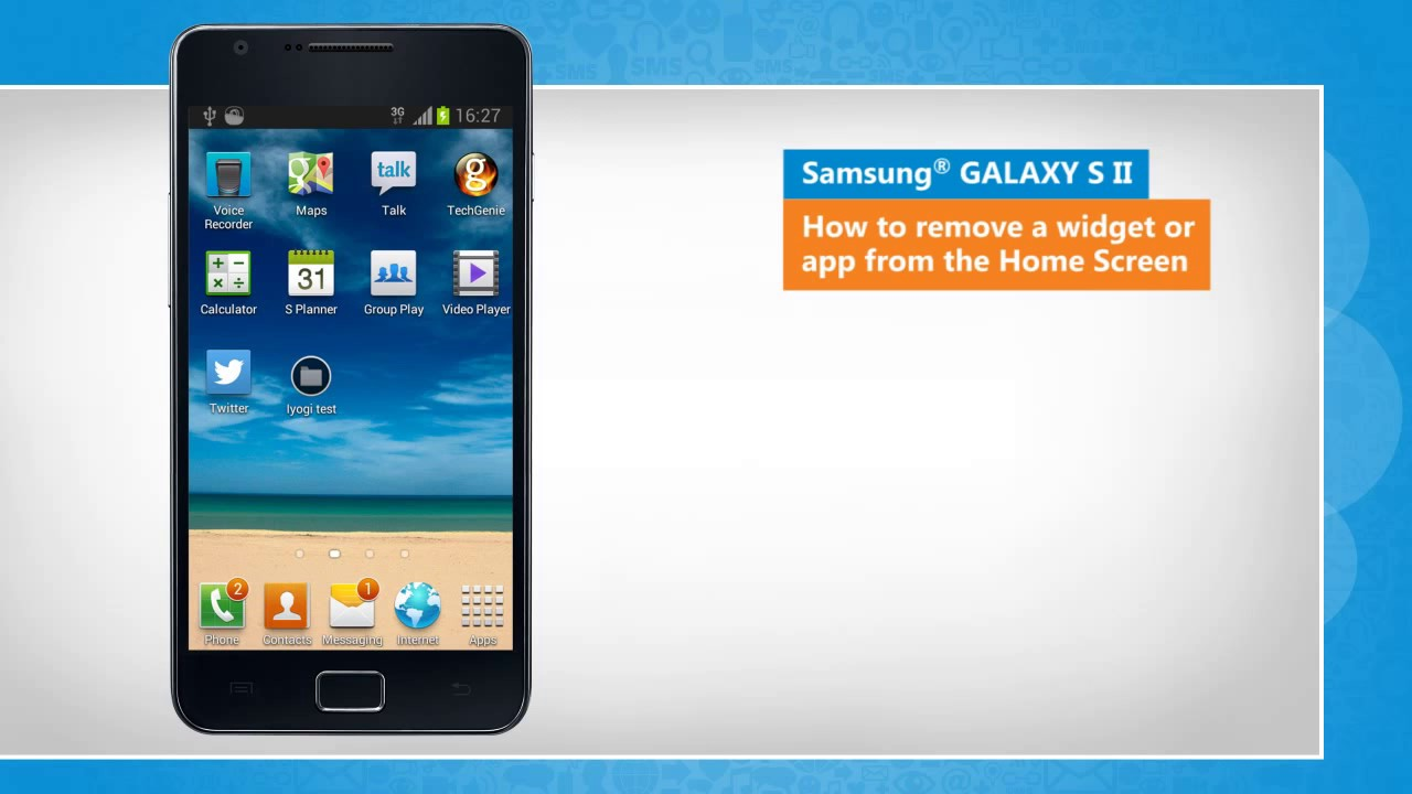 How to remove a widget or app from the Home Screen-Samsung® GALAXY S II