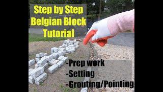 Gambar cover How to install Belgium Block Driveway Edging Part 1