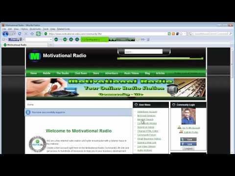 Streaming Online Radio - Motivational Radio - The Community Site!