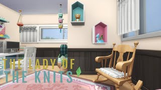 THE LADY OF THE KNITS (StoneStreet Apartments #3 Renovation) |  The Sims 4 Speed Build (No CC)