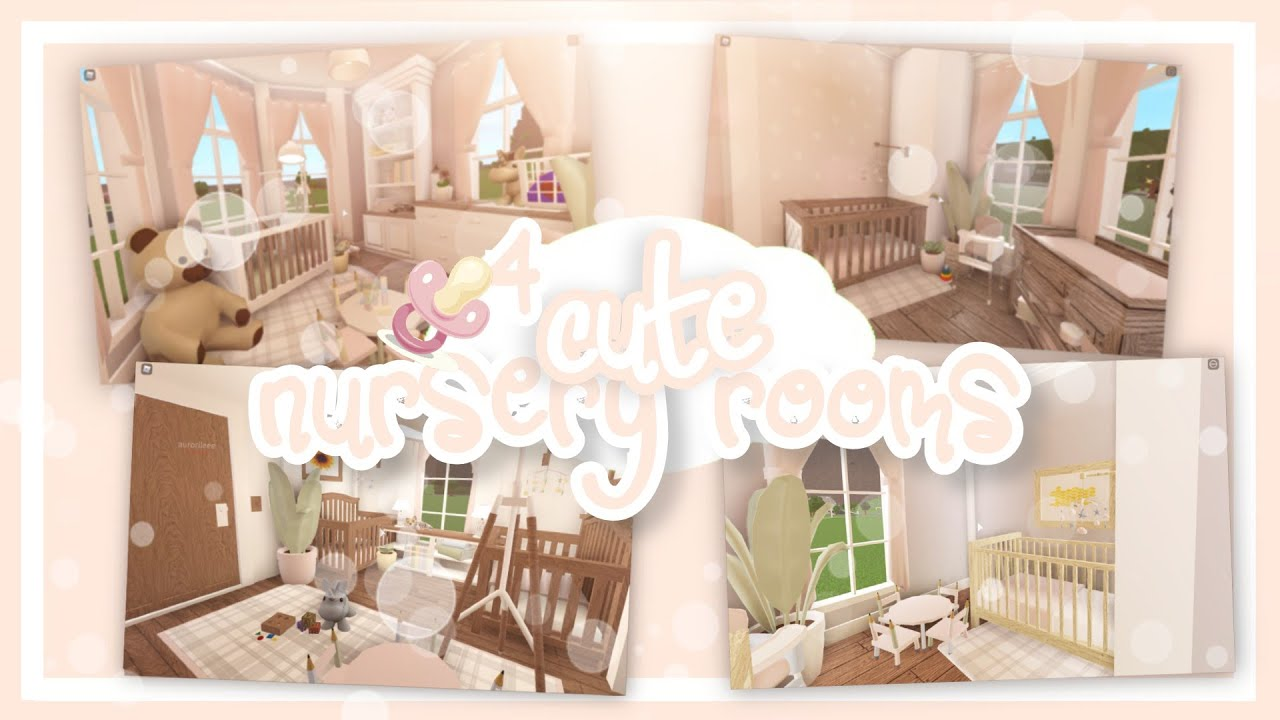 Bloxburg :: 4 CUTE Nursery Room Ideas !! ✰ Bloxburg Baby Update - YouTube