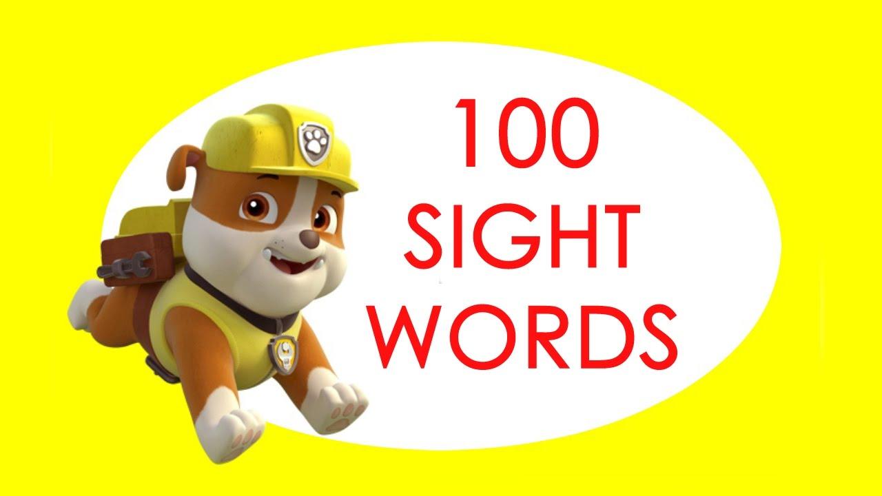 100 sight words for children  kindergarten  grade 1
