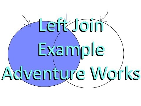 SQL Left Join Basics And Examples In Adventure Works