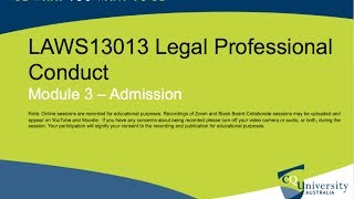 LAWS13013 Legal Professional Conduct