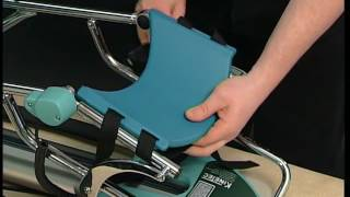Kinetec Spectra™ knee CPM -comfort supports set up-