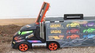 Learn Colors Aprendiendo colores con los carritos del trailer Gigante