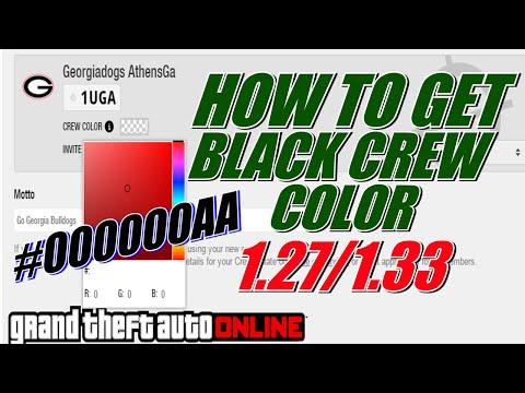 How To Get Black Crew Color In GTA Online 1.27/1.41