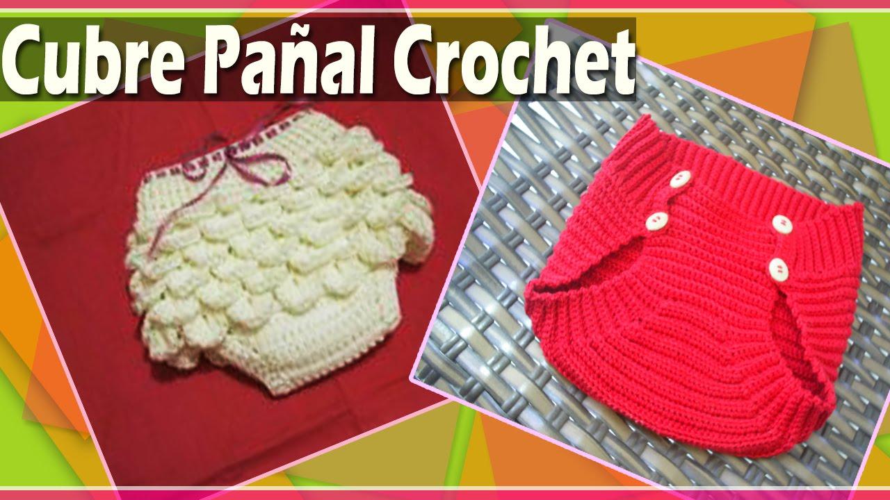 Cubre Pañal Bebe - Bombacho Tejido a Crochet - YouTube