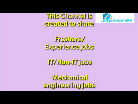 Diploma mechanical freshers jobs