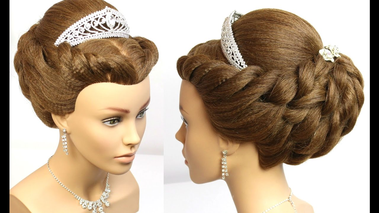 hair up styles wedding wedding updo bridal prom hairstyle for medium hair 8958