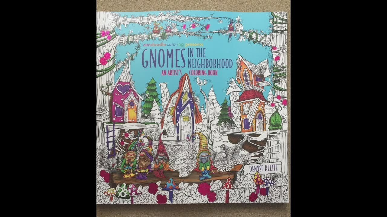 Gnomes In The Neighborhood An Artist S Coloring Book Flip Through
